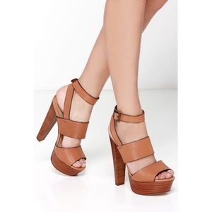 Steve madden DEZZZY leather wrap ankles heel